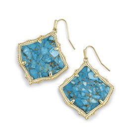 Kirsten Earring - Gold Bronze Veined Turquoise