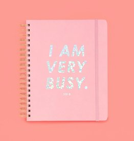 17 Month Large Agenda - I Am Very Busy Pink Holographic