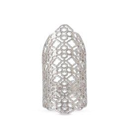 Boone Ring - Rhodium Metal O/S