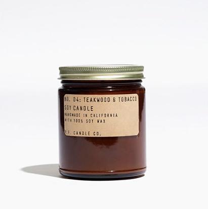 Teakwood & Tabacco Soy Candle