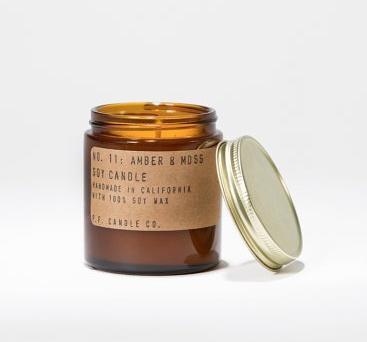 Mini Amber & Moss Soy Candle