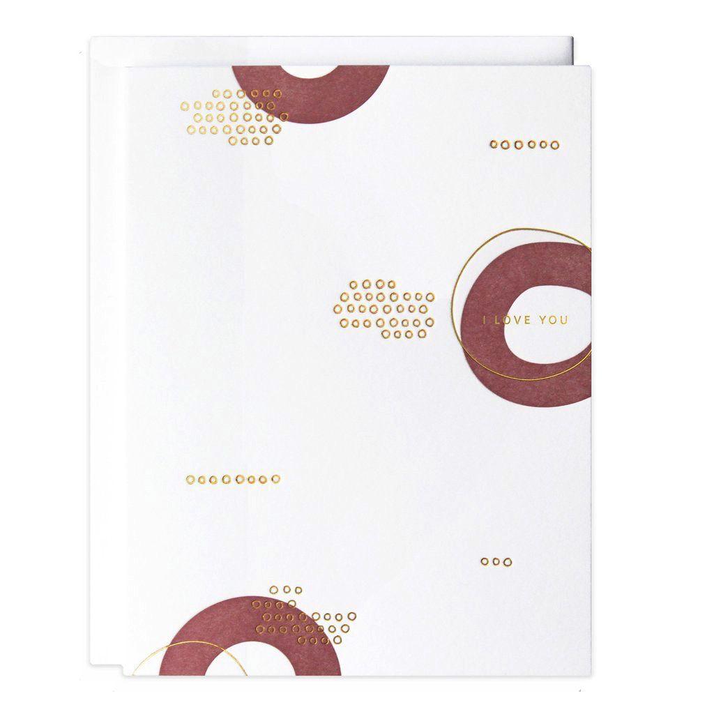 Love I Love You Circles Card