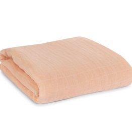 Organic Cotton Muslin Swaddle - Dusty Pink