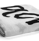 Organic Cotton Muslin Swaddle - Love You To The Moon