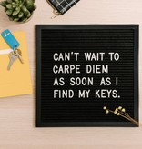 Letter Boards The Poet - Black 10x10