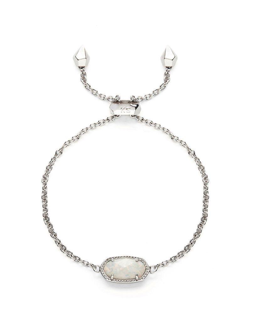 Elaina Bracelet - Rhodium White Opal