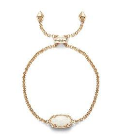 Elaina Bracelet - Gold White Opal