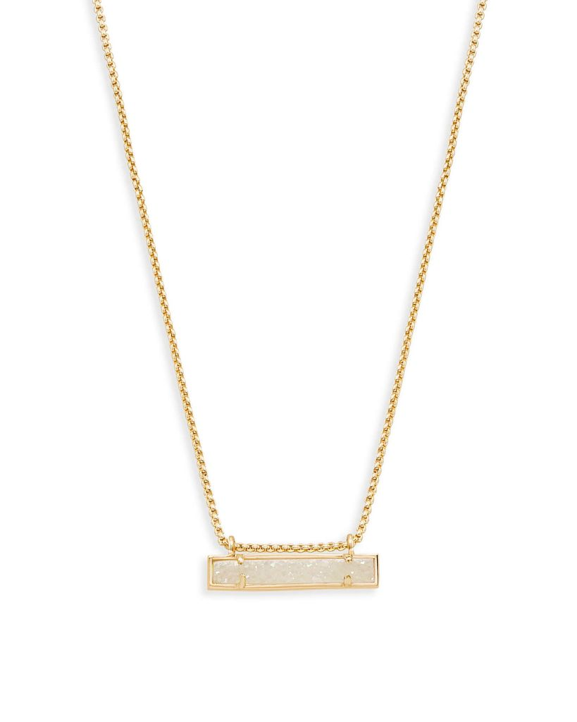 Leonor Necklace - Gold Iridescent Drusy