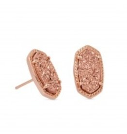 Ellie Earring - Rose Gold Drusy