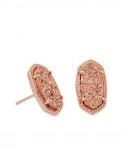 Ellie Earring - Rose Gold Drusy