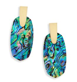 Aragon Earring - Gold Abalone Shell