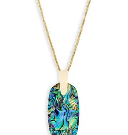 Inez Necklace - Gold Abalone Shell