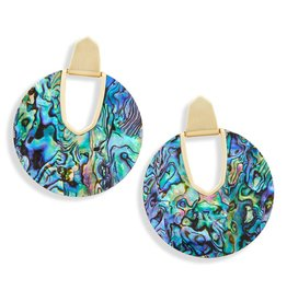 Diane Earring - Gold Abalone Shell