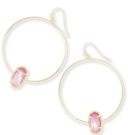 Elora Earring - Gold Blush Mother of Pearl