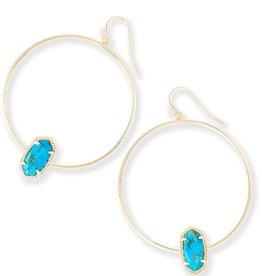 Elora Earring - Gold Bronze Turqoise