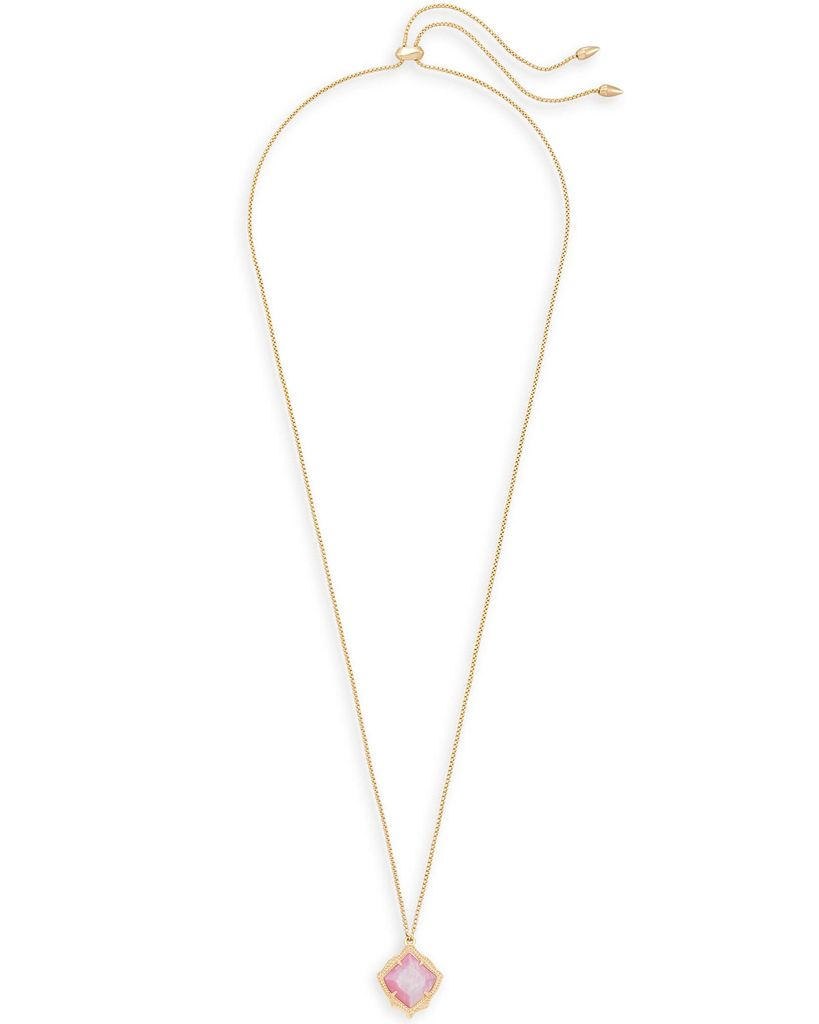 Kacey Necklace - Gold Blush Mother of Pearl