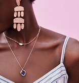 Kacey Necklace - Rose Gold Naxy Dusted Glass