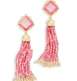 Misha Earring - Gold Blush Mother of Pearl CZ