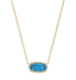 Elisa Necklace - Gold Cobalt Drusy
