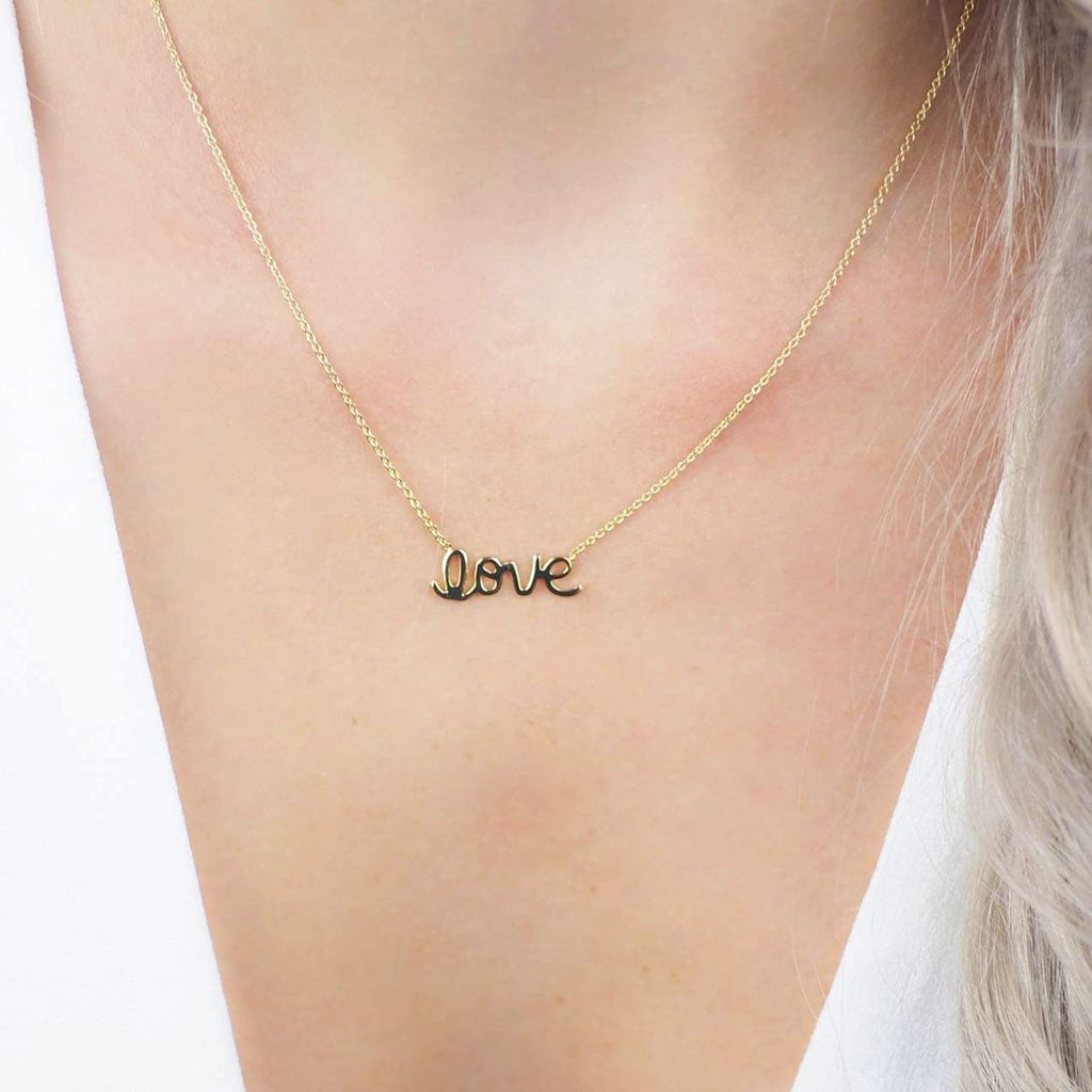 With Love Necklace and Earring Set - Gold