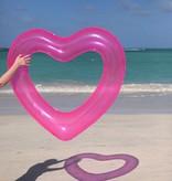 Outdoor Beach Please - Jumbo Heart Pink Innertube