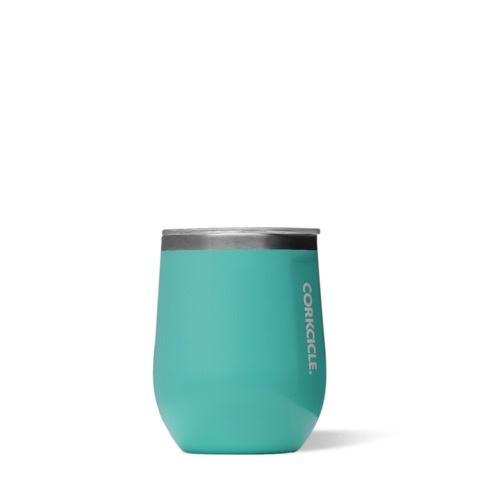 Wine Glass Stemless - 12oz Gloss Turquoise