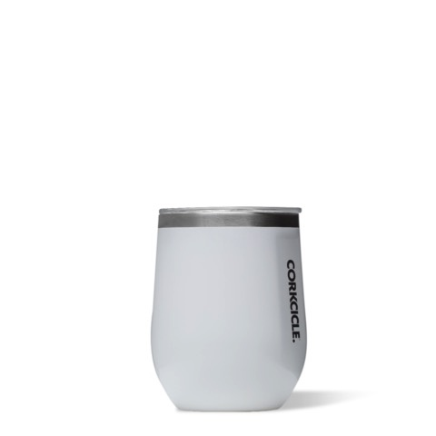 Wine Glass Stemless - 12oz Gloss White