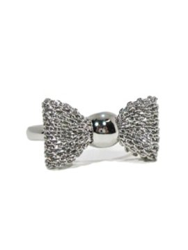 Survolte Silver Mesh Bow Ring
