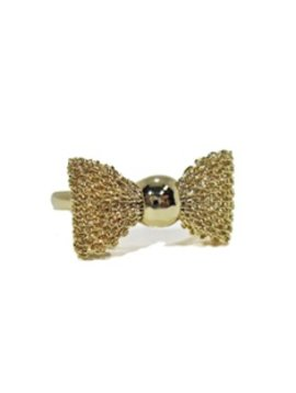 Survolte Gold Mesh Bow Ring