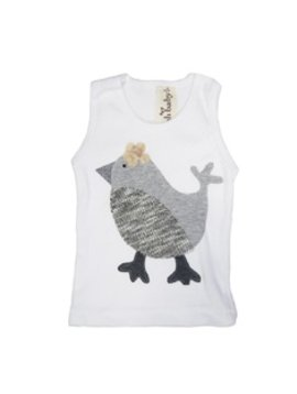 Oh Baby! - Sweater Bird Tank - Grey