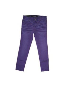 Distressed Color Jegging - Acai