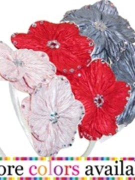 Misc Rhinestone Chiffon Flower Headband