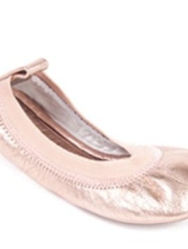 Yosi Samra Rose Gold Ballet Flat - Kid