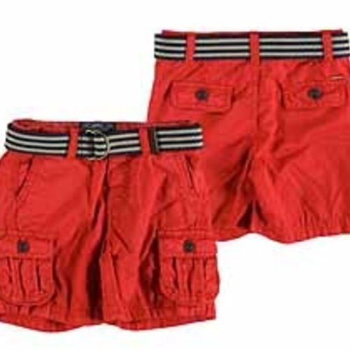 Mayoral Red Cargo Shorts - Size 6 - Pumpkin and Bean