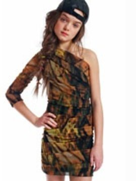 Submarine Camo Party Dress - 10/12