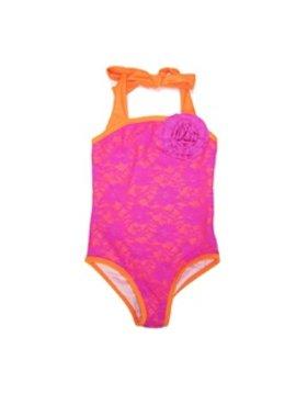 Love u Lots Love U Lots - Tween Lace Shimmer Lining Swimsuit