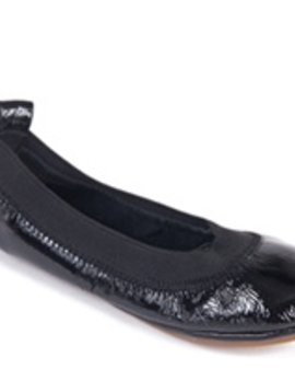 Yosi Samra Patent Black Ballet Flat - Kids