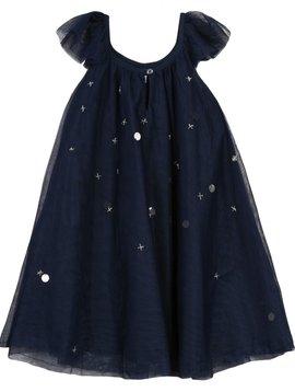 3pommes & B-Karo Navy Tulle Dress