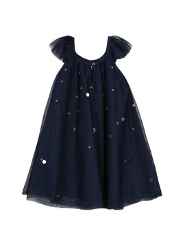 3pommes & B-Karo Navy Tulle Dress