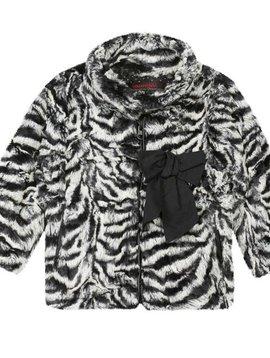 Catimini Zebra Faux Fur Jacket