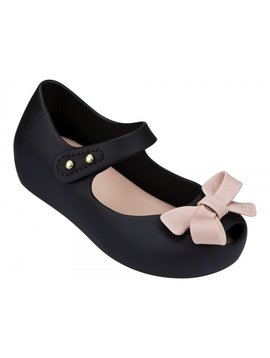 Mini Melissa Ultragirl Bow - Black/ Pink