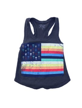 Californian Vintage Tank Top - Palm Flag