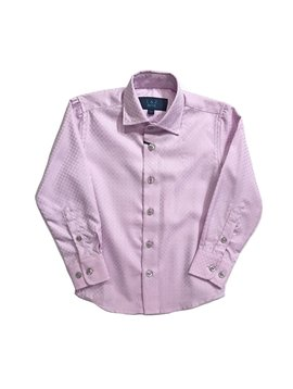 Leo & Zachary Dress Shirt - Pink Checkerboard