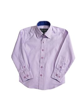 Leo & Zachary Dress Shirt - Classic Check Lilac