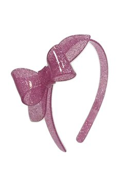 Lilies and Roses Rosane Headband - Glitter Lt Pink