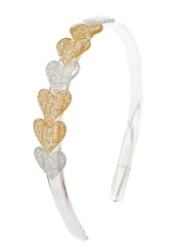 Lilies and Roses Headband - Heart Glitter
