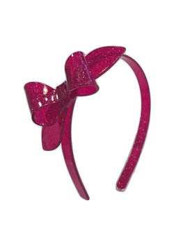 Lilies and Roses Rosane Headband - Glitter Fuchsia Pink