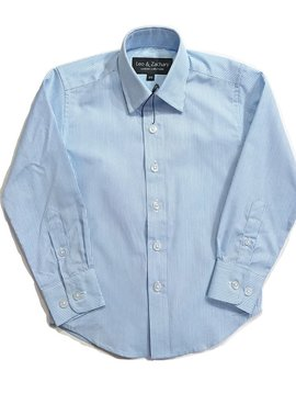 Leo & Zachary Dress Shirt -  Classic Blue Check