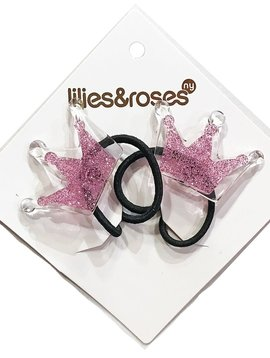 Lilies and Roses Ponytail - Lt Pink Crown