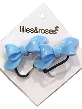 Lilies and Roses Ponytail - Bows - Lt Blue
